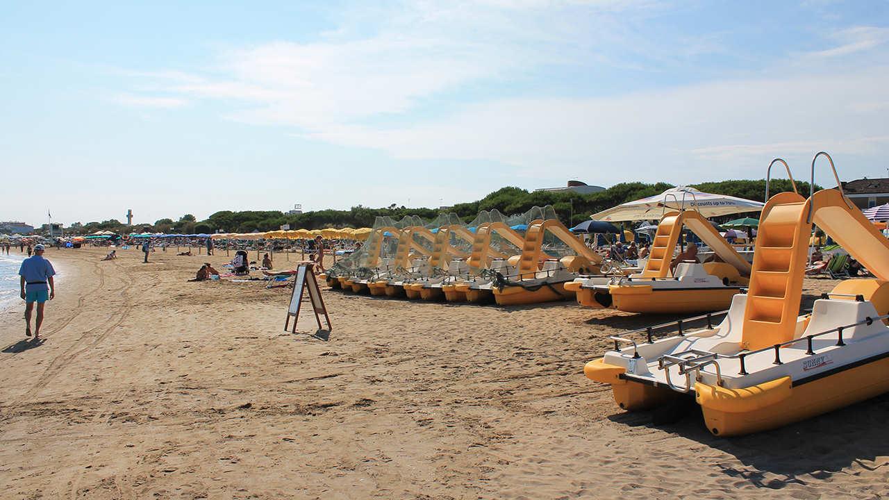 spiaggia jesolo camping parco capraro